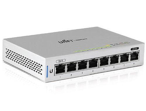 купить Ubiquiti UniFi Switch 8-ports (US-8), 8x10/100/1000 Mbps RJ45 Ports, 1xPoE Passthrough Port, Non-Blocking Throughput: 8 Gbps, Switching Capacity: 16 Gbps, (retelistica switch/сетевой коммутатор) в Кишинёве