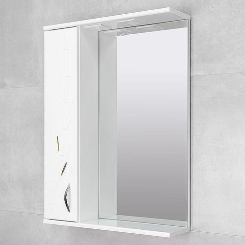 купить Albina Шкаф-зеркало белое 600 бамбук L в Кишинёве