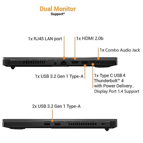 """купить Ноутбук 15.6"""" ASUS TUF Dash F15 FX516PE, Intel i7-11370H 3.3-4.8GHz/16GB DDR4/M.2 NVMe 512GB SSD/GeForce RTX3050Ti 4GB GDDR6/WiFi 6 802.11ax/BT5.1/USB Type C/HDMI/Backlit RGB Keyboard/15.6"""" FHD IPS LED-backlit 144Hz (1920x1080)/NoOS/Gaming FX516PE-HN001 в Кишинёве"""