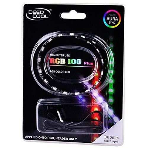 """cumpără RGD LED strips  DEEPCOOL """"RGB 100 Plus"""", applicable with Motherboards with RGB header, RGB color LED strip: 300mm (+500mm extension cable), Magnet-based mounting, Stable and long lifespan, Software control (ASUS Aura/MSI Mystic/Gigabyte Fusion) în Chișinău"""