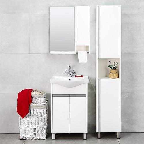cumpără Dulap-oglindă Selena alb structurat 600 R în Chișinău