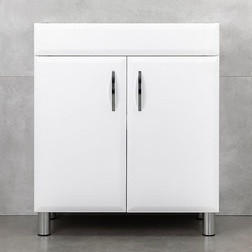 купить Diamis Шкаф белый хром с умывальником Atria 750 в Кишинёве