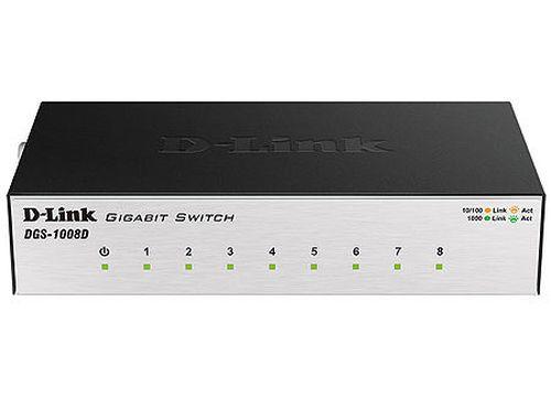 купить D-Link DGS-1008D/J3A L2 Unmanaged Switch with 8 10/100/1000Base-T ports, 8K Mac address, Auto-sensing, Metal case в Кишинёве