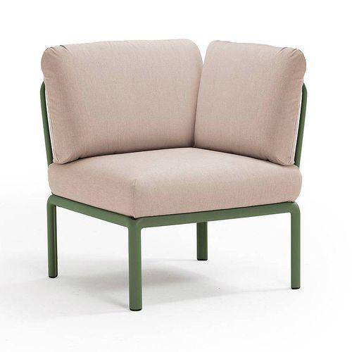 купить Кресло модуль угловой с подушками Nardi KOMODO ELEMENTO ANGOLO AGAVE-canvas Sunbrella 40374.16.141 в Кишинёве