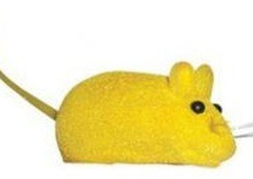 купить Мышь велюровая, с пищалкой, 6,5см, разные цвета в Кишинёве