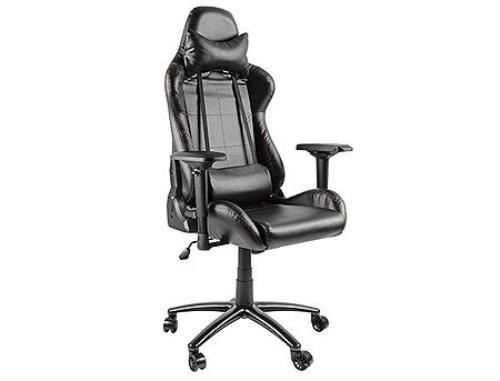 купить Lumi Gaming Chair with Headrest & Lumbar Support CH06-2, Black, 4D Armrest, 350mm Black Painting Metal Base, PU Hooded Caster, 100mm Class 3 Gas Lift, Weight Capacity 150 Kg в Кишинёве