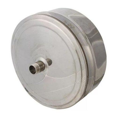 Двустенная заглушка с конденсатоотводом из нержавеющей стали Ø 100-180 мм