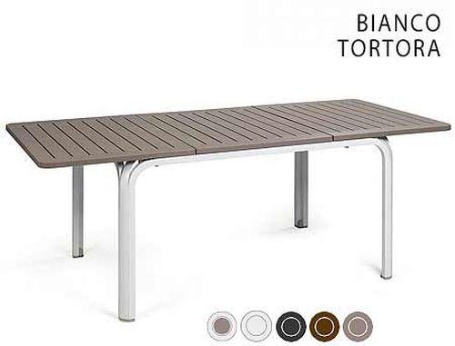 купить Masa ALLORO 140 EXTENSIBLE TORTORA-vern. Bianco 42753.10.000 в Кишинёве
