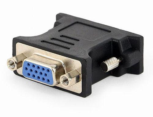 купить Gembird A-DVI-VGA-BK, adapter DVI-A 24-pin male to VGA 15-pin HD (3 rows) female (Переходник) в Кишинёве
