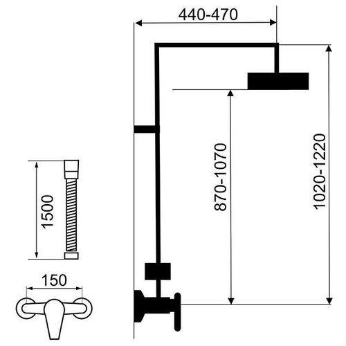 Душевой набор FERRO TINA WHITE SET070/38.1 (ванная комната)