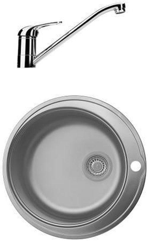"""cumpără Chiuvetă bucătărie cu bateria Franke 101.0477.853 Stainless steel sinks RON 610-38 3 1/2"""" WWK ND O în Chișinău"""
