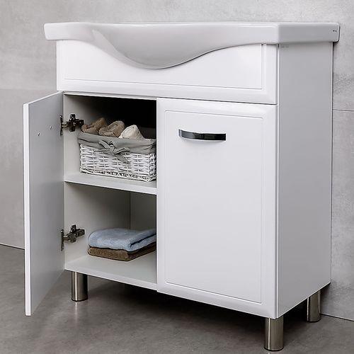 купить Allure Шкаф белый дуо с умывальником Alba 800 в Кишинёве
