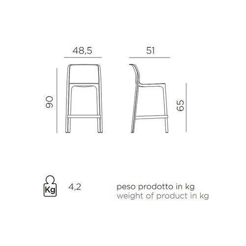 купить Стул полубарный Nardi NET STOOL MINI BIANCO 40356.00.000 (Стул полубарный для сада и террасы) в Кишинёве