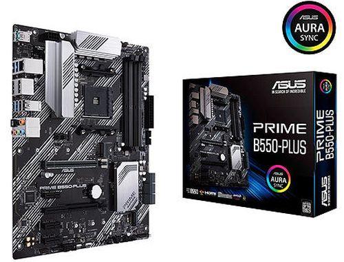 купить Материнская плата ASUS PRIME B550-PLUS AMD B550, AM4, Dual DDR4 4800MHz, 2xPCI-E 4.0/3.0 x16, Display Port 1.2/HDMI 2.1, USB 3.2, SATA RAID 6Gb/s, 2xM.2 x4 Socket, 64Gb/s M.2 support PCIe 4.0 x4, SB 8-Ch., GigabitLAN, Aura Sync RGB (placa de baza/материнская плата) в Кишинёве